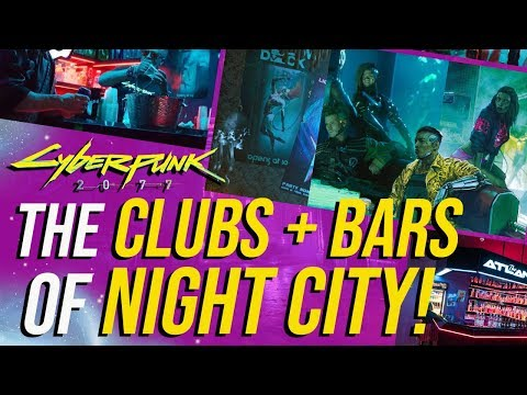 Cyberpunk 2077 - Night Clubs, Bars & Alcohol! - YouTube