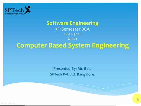 Introduction to Software Engineering - System Engineering Pr
