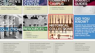 Introduction to the Upstate Health Sciences Library Website