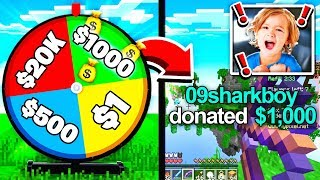 Spin the MYSTERY MONEY WHEEL Challenge! (1 SPIN = 1 DONATION)