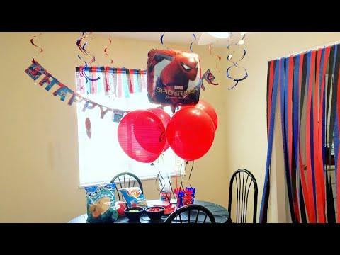 DIY BIRTHDAY PARTY (feat. Spiderman) | tlnrowland