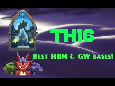 Castle Clash; Best TH16 Bases For HBM & GW!