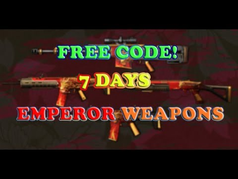 WARFACE - FREE CODE - 7 DAYS YELLOW EMPEROR WEAPONS!