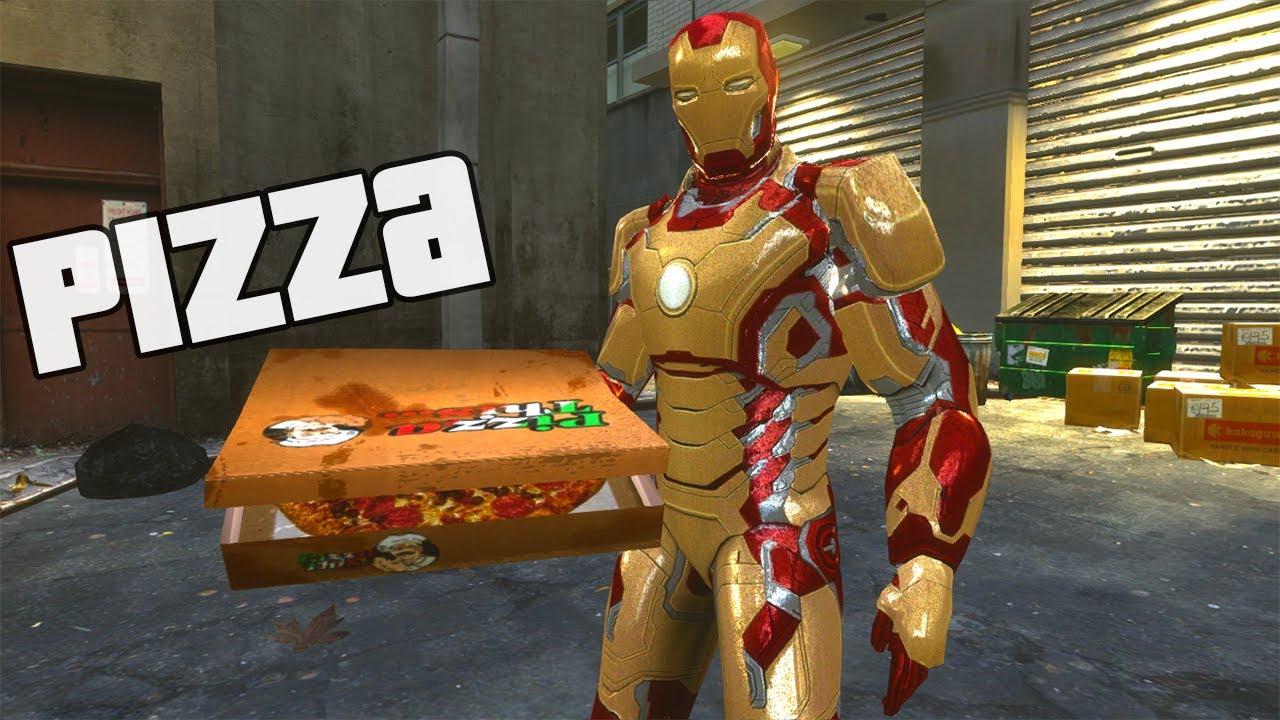 Homem De Ferro Entregador De Pizza Youtube