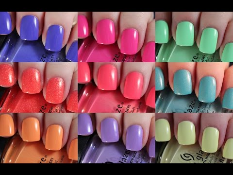China Glaze Lite Brites Collection   Live Application Review