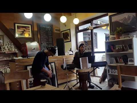 Jamming in Himalaya Java Gallery Cafe, Jomsom, Nepal