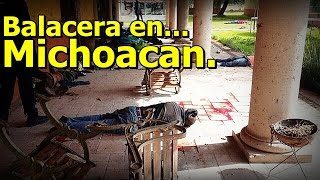 Repeat youtube video Fuerte Balacera en Tanhuato, Michoacán, deja 43 Sicarios Muertos