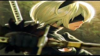 Nier Automata Game Movie (2B, 9S, 2A Story Cutscenes) w/ All ENDINGS & Secret Ending in Order