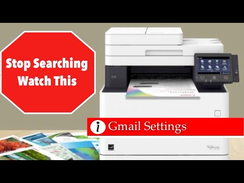 Set Up Scan To Email / Gmail On Canon Image Class Printer MF 733CDW