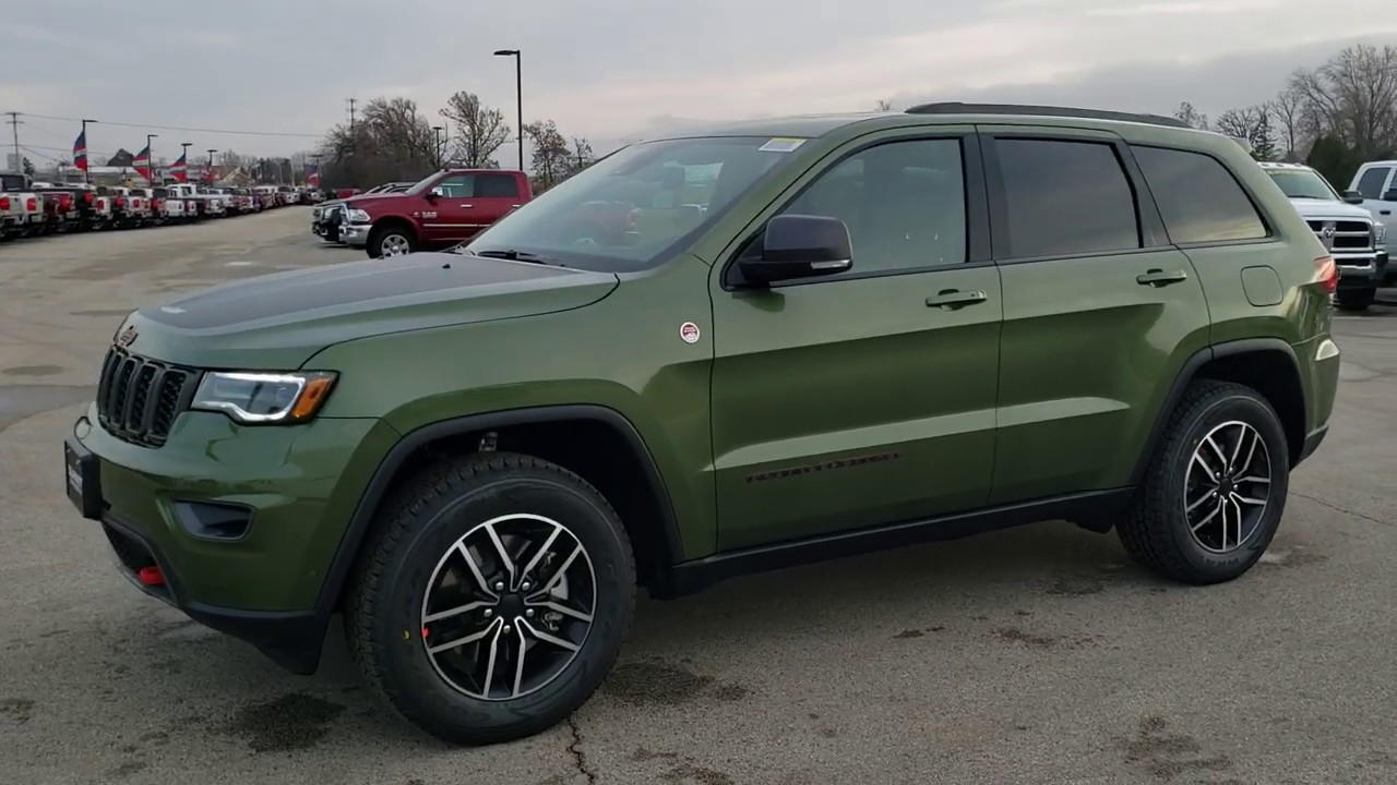 2020 New Jeep Grand Cherokee Color Trailhawk Green Metallic F8 Walk Around Review Jeep Color Sold Youtube
