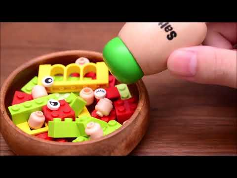 Stopmotion Cooking LEGO Salad! ASMR/EATING
