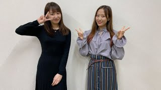 2021年3月31日放送『K-mix Double Eyes』より ゲスト:小田さくら・野中美希(モーニング娘。'21)