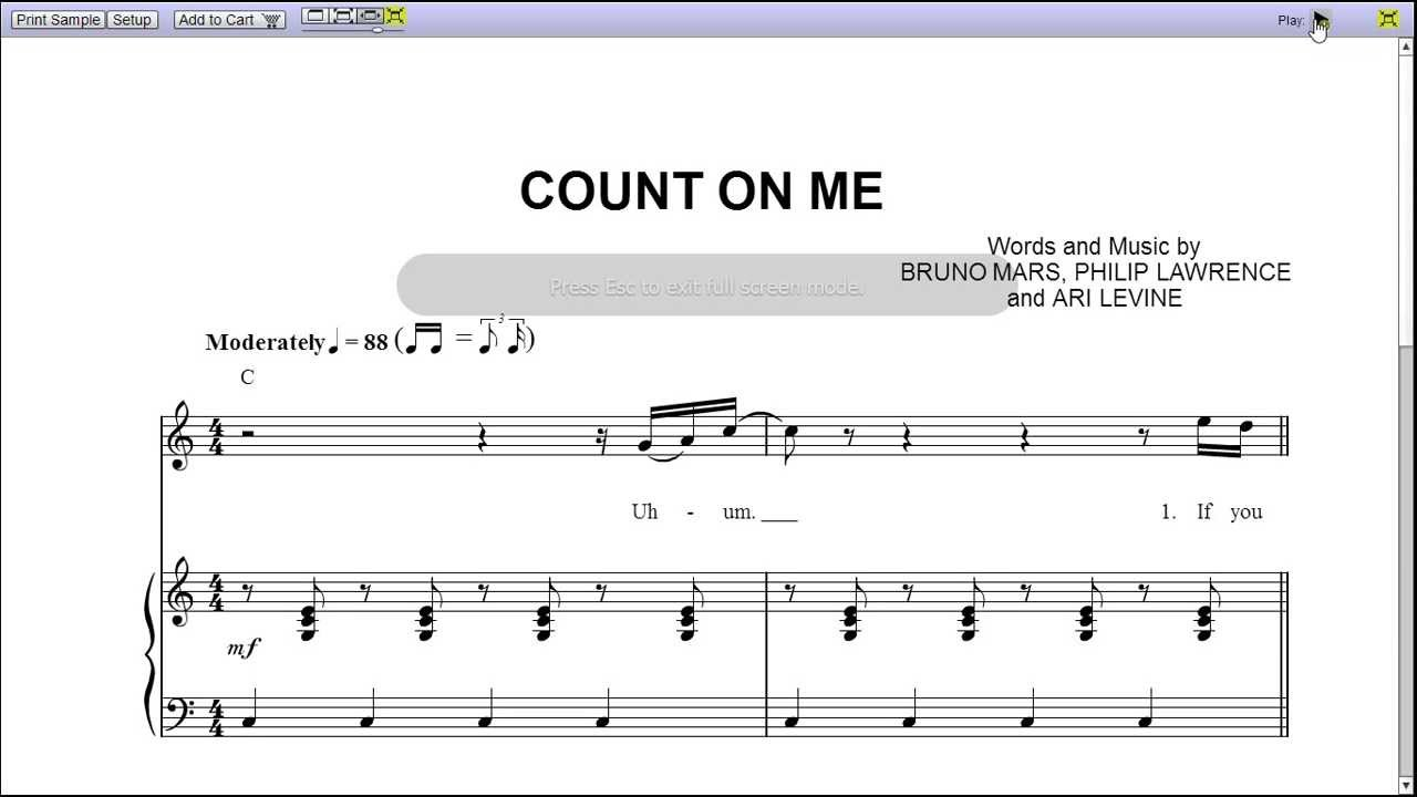 Count on me by bruno mars piano sheet musicteaser youtube count on me by bruno mars piano sheet musicteaser hexwebz Image collections