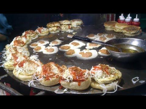 PAKISTANS FAMOUS STREET FOOD BUN KABAB - Anday Wala Burger