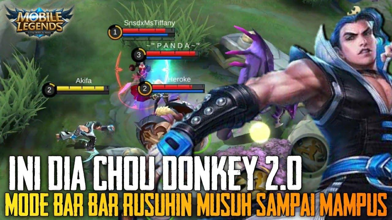 Ini Dia Chou Donkey 2.0 Bossqu !  Rusuhin Musuh Sampai Pusing - Mobile Legends