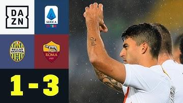 Die Roma siegt und nimmt Kurs auf Europa: Hellas Verona - AS Rom 1:3 | Serie A | DAZN Highlights