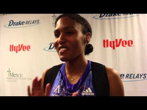 Ajee Wilson  Post Drake Relays Victory 2015