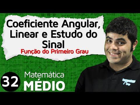 Coeficiente Angular, Linear e Estudo do Sinal da Função Afim (Aula 5 de 6) | MEM #32