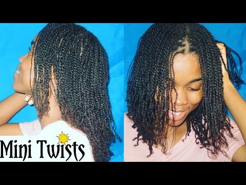 ☆ HOW TO: Neatly Install Mini Twists On Your Hair + Length Check | Natural Hair Tutorial