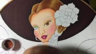 Pintura en tela charrita # 2 con cony