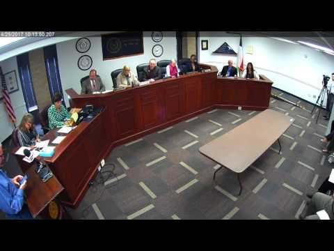 Brazos County Commissioners Court 04-25-17