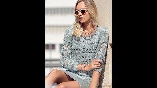 Вязание Женской Ажурной Кофточки Крючком - модели 2018/ Knitting Openwork Blouse with a Crochet
