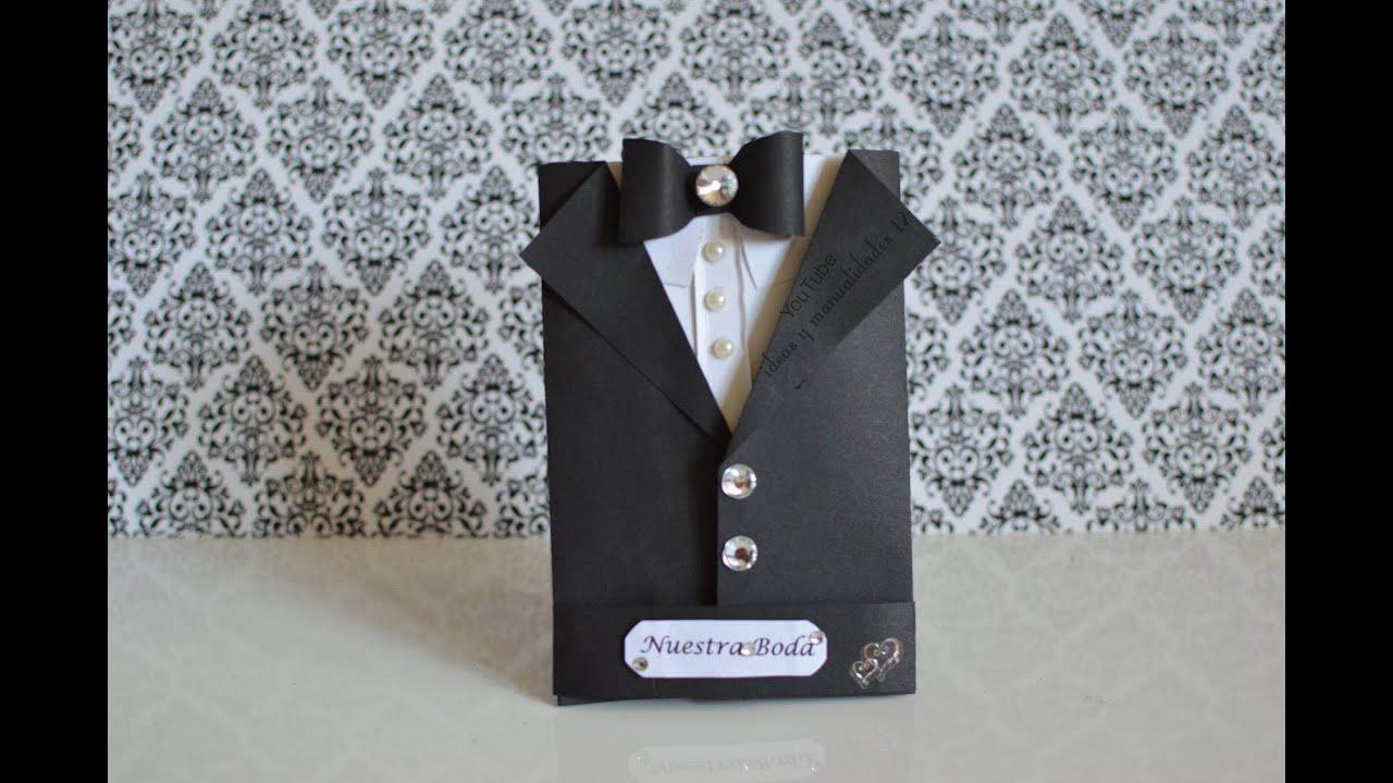 Tarjeta tuxedo para el d a del padre father 39 s day youtube - Tarjeta de boda ...
