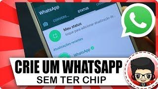 Como criar WhatsApp sem precisar de chip (Número) - ATUALIZADO 2018