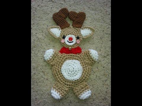Crochet Easy Reindeer Hotpad Potholder Diy Tutorial Youtube