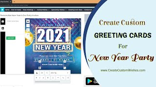 Create Happy New Year 2020 Wishes eCard with Name Message and Quote