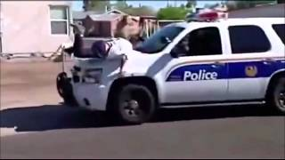 Police Foot Chase Fail