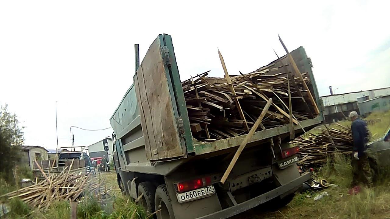 Вывоз мусора ( Срезка ) . Камаз 5511