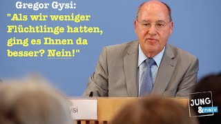 Gysi & ein Bürger, der nicht für andere verantwortlich sein möchte...