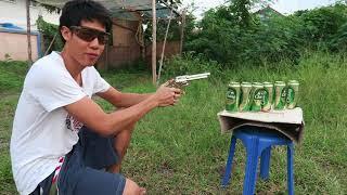 ยิงกระป๋องเบียร์ โดย ปืนลูกเหล็ก BB GUN จะทะลุกี่กระป๋อง? มาดูกัน