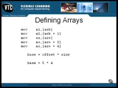 Assembly Language Training: Part 8 (1 of 6) - Aggregates (Defining Arrays)