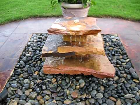 Ericau0027s Natural Stone Fountain By Creative Cascades   YouTube