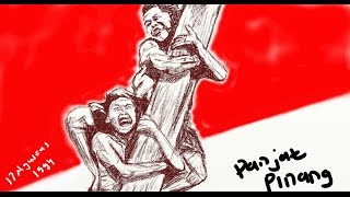 (Drawing) Menggambar Lomba Panjat Pinang Untuk Memperingati Kemerdekaan 17 Agustus 1945