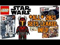 All *LEAKED* Lego Star Wars 2021 sets info!