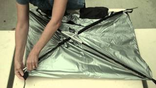 Setting up a Harrison Film Changing Tent