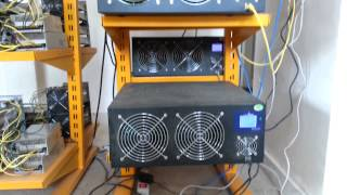 Stack of S1, S2 & S3 Antminers in ForgeCoin Facility