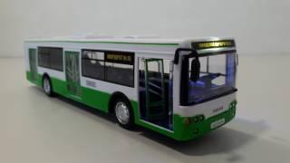 Игрушечный автобус ЛИАЗ зеленого цвета