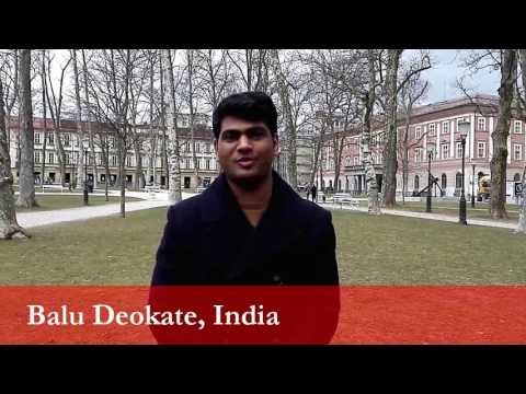 Balu Deokate, student from India at the University of Ljubljana