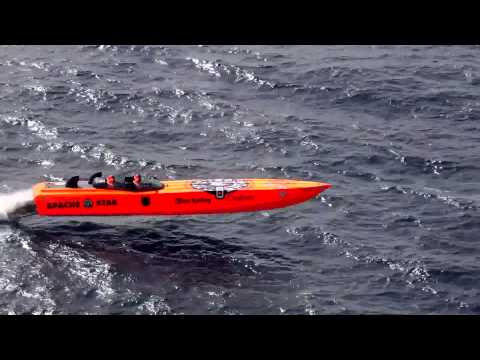 Apache Powerboats:  Apache Action - World Record Speed Run to Cuba