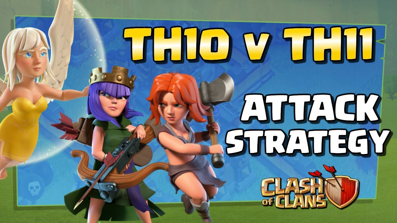 best th11 attack strategy 2020 Strong TH10 vs TH11 Attack Strategy   Queen Charge Valks CoC War