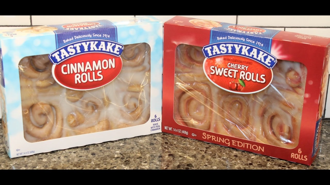 TastyKake: Cinnamon Rolls and Cherry Sweet Rolls Review