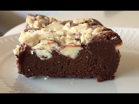 brownie med hvid chokolade