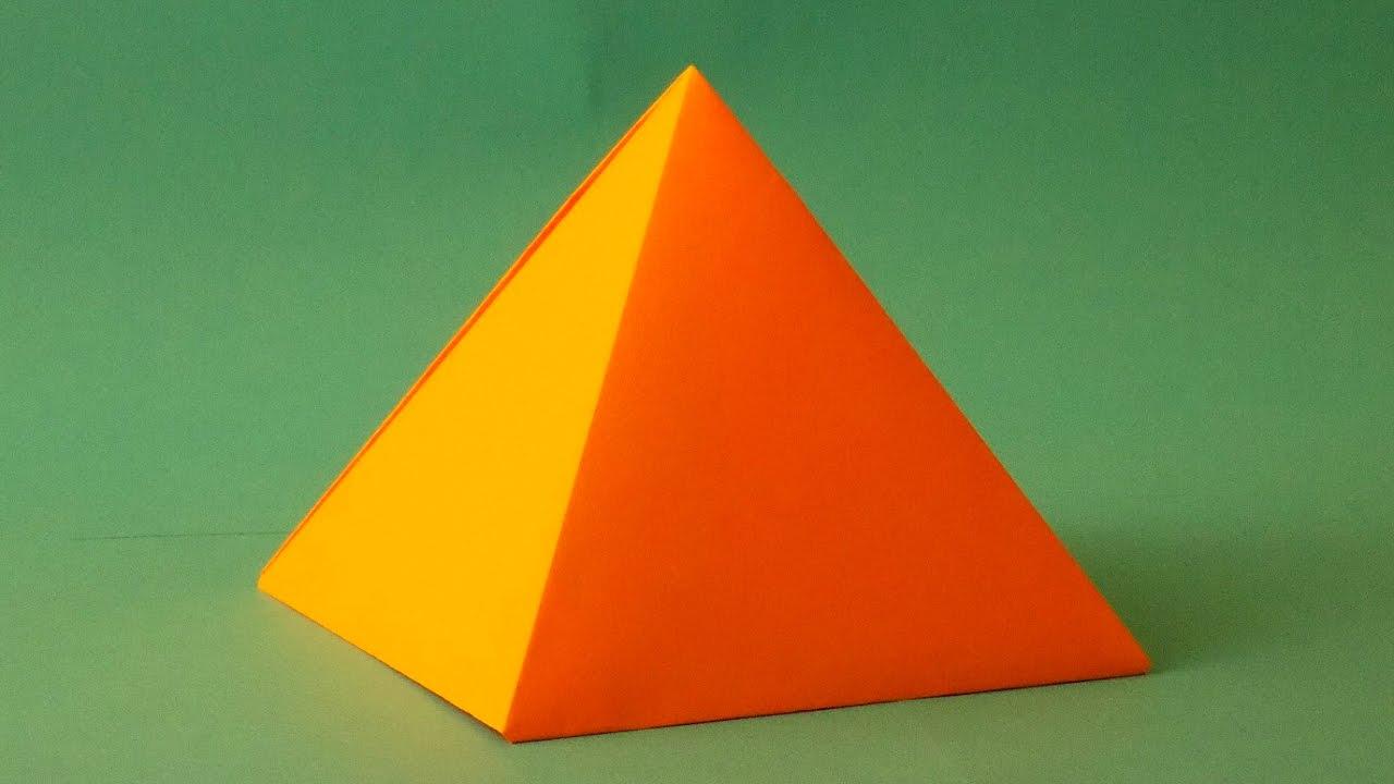 оригами пирамида как сделать пирамиду из бумаги схема пирамида хеопса How to make Paper Pyramid