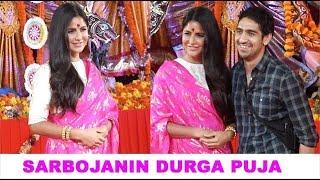 Katrina Kaif At Durga Puja Pandal With Ranbir Kapoor's Bestie In Mumbai
