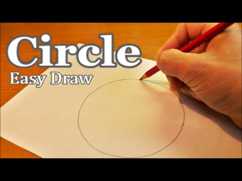 Very Easy ! How to Draw a Perfect Circle Freehand