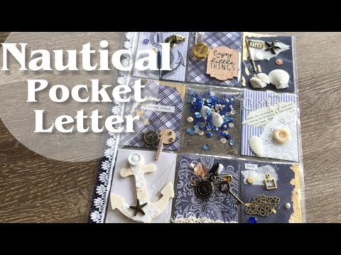 How to make a Pocket Letter | Nautical Themed Pocket Letter